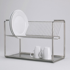 Ikea drying dish rack | $19.99 I love this thing. Fits so many more dishes than our previous in-sink rack, and very affordable. A friend has had the same one for a couple years, and it's still going strong.