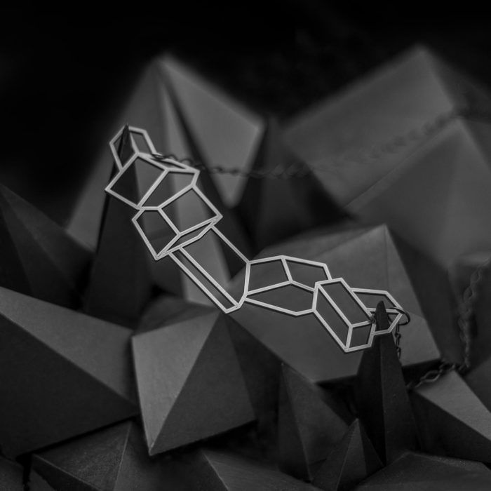 Crystals—3D printed geometric necklace