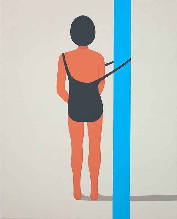 Not what it first appears to be. Geoff McFetridge: Meditallucination. On canvas. click through for artists vision & details