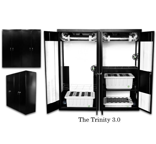 fully automated perpetual grow system. Supercloset Trinity 600w/400w/T-5 Triple Chamber Grow Box Cabinet System. The highest yielding, most user-friendly grow cabinet in the world! Yield up to 1lb of dried plant matter every month!!