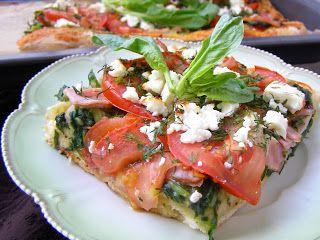 W Mojej Kuchni Lubię.. : domowa szpinakowa pizza chrupiąca...