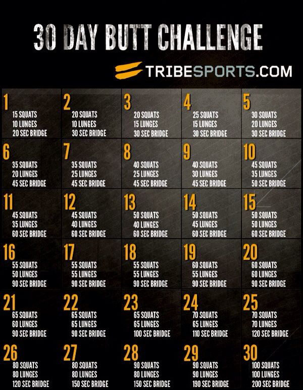 30 day butt challenge tribe sport