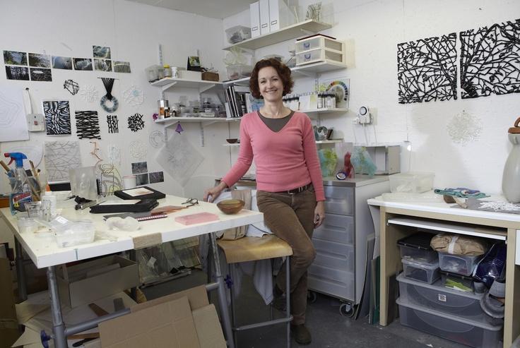 Lisa Pettibone, glass artist, Surrey Open Studios member