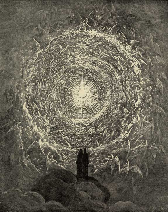 Doré's White Rose - Illustration to Dante's Divine Comedy, Paradiso by Gustave Doré. Plate 34 (from Art Passions)