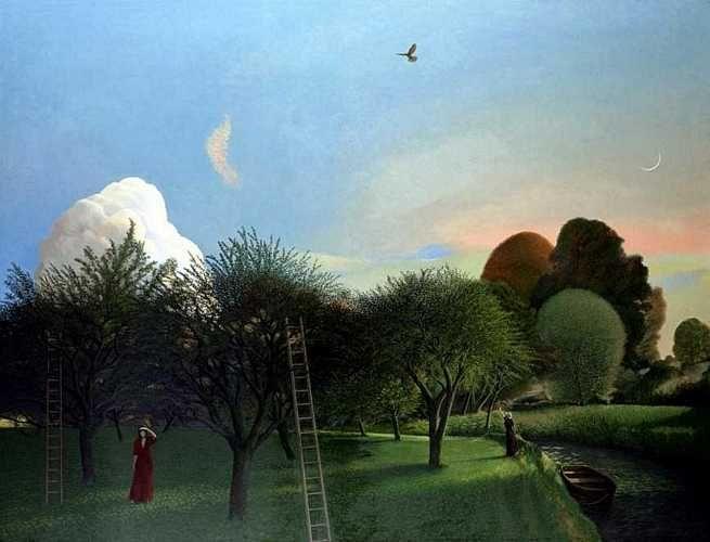 """The Orchard"" by David Inshaw. www.davidinshaw.net"