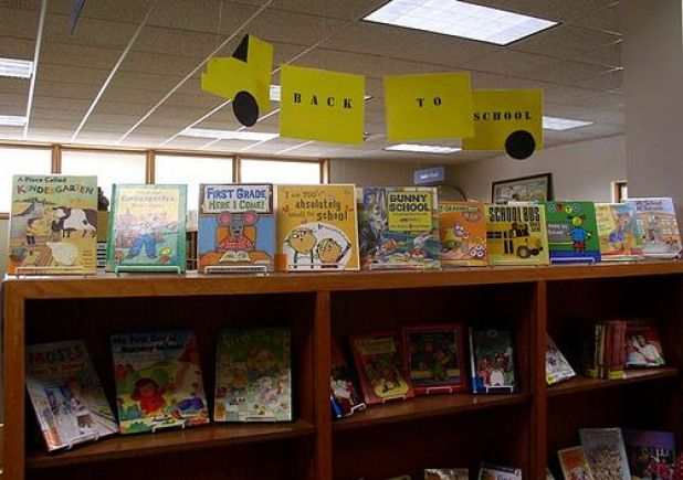 Back To School Library Display #technology #technology #bulletin #board