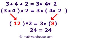 Associative Property of Multiplication | Picture of Associative Property of Multiplication
