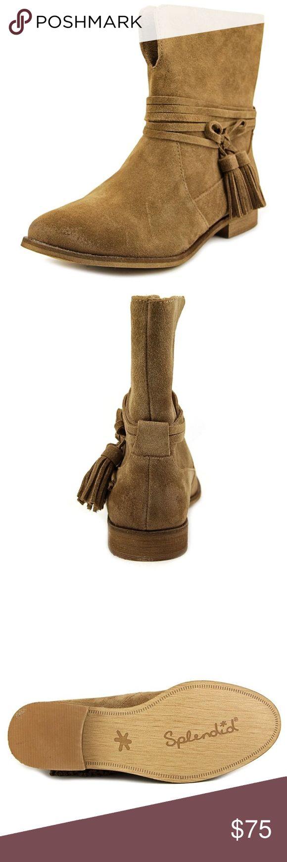 Splendid Tassel Pennie Booties Splendid Tassel Booties. Size 9. New in Box. Suede in dark tan. Splendid Shoes Ankle Boots & Booties
