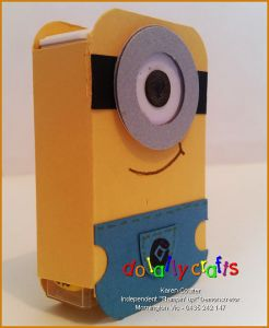 Minion Tic Tac Cover - Side - DoLallyCrafts