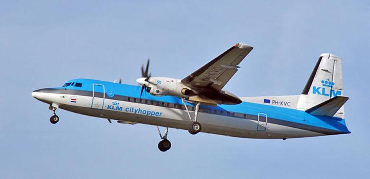 PH-KVC KLM Fokker 50 plane. http://www.airpowercarriers.org/klm/ph-kvc-klm-fokker-50.htm