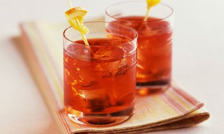 Campari, sweet vermouth and gin