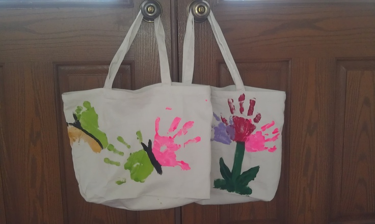 We did the butterfly canvas bag for Nana for Mother's Day in 2013 and it turned out GREAT!