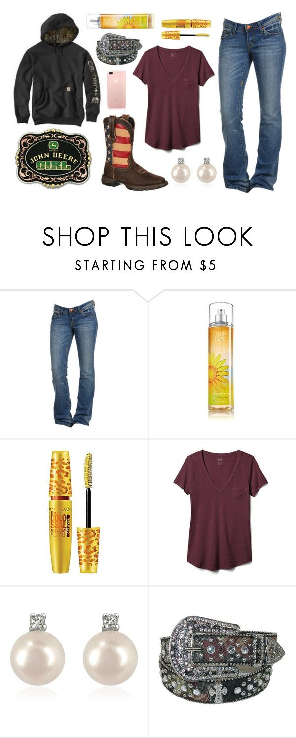 """""""12-18-17"""" by im-a-jeans-and-boots-kinda-girl ❤ liked on Polyvore featuring Maybelline, Gap, Forzieri and John Deere"""