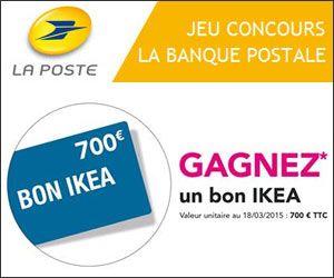 la poste concours gratuit avec un bon d 39 achat ikea de 700 euros gagner concours gratuits. Black Bedroom Furniture Sets. Home Design Ideas