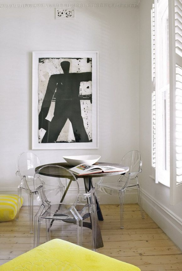 Weu0027re Loving This Yellow, Black And White Dining Room With The Kartell Louis.  Louis Ghost ChairsLucite ...
