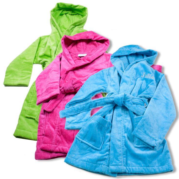 Badjas voor kinderen met borduurwerk.