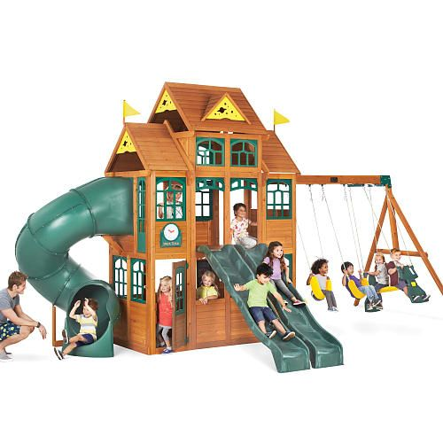 Big Backyard Falcon Ridge Premium Wood Swing Set