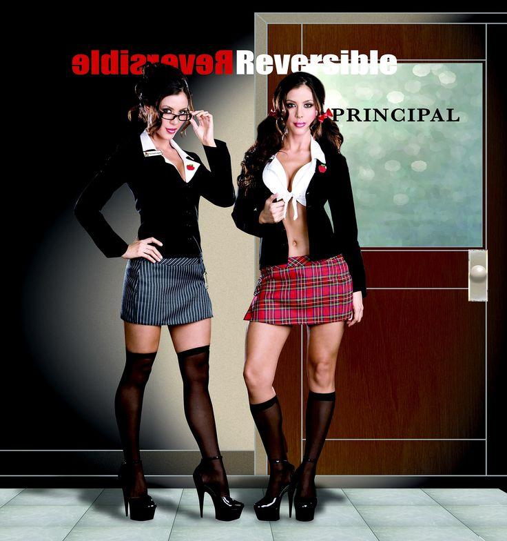 reversible sexy school girl or hot teacher costume halloween naughty - Naughty Halloween