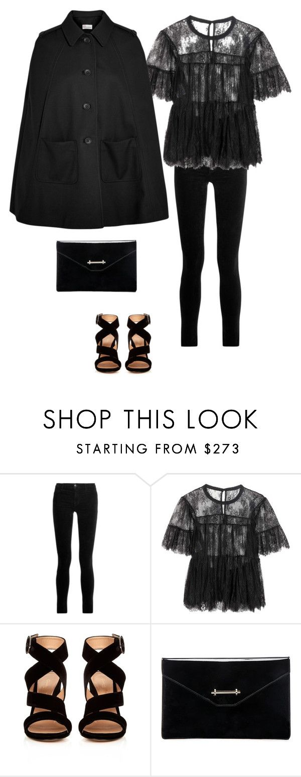 """Outfit skinny jeans #7"" by momwithsneakers ❤ liked on Polyvore featuring J Brand, Philosophy di Lorenzo Serafini, Gianvito Rossi, M2Malletier, RED Valentino, skinnyjeans and polyvorestyle"