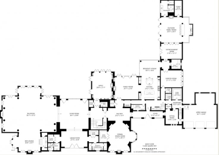 Mega Mansion House Plans 2499 best plans images on pinterest | floor plans, architecture