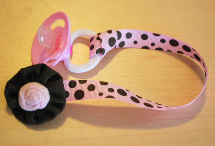 Binky/Pacifier Clip Tutorial  This is a quick and easy project. No snaps or velcro required.