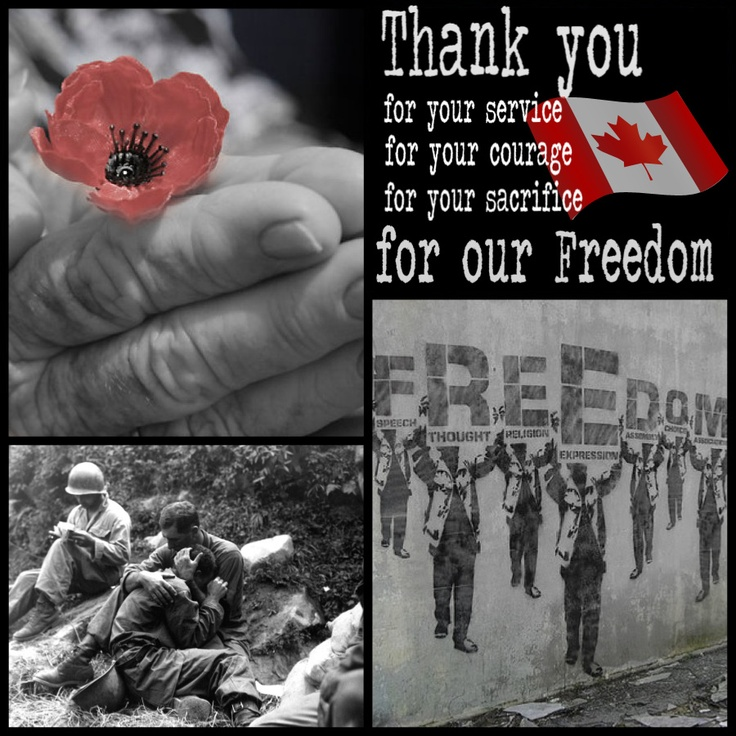 Remembrance Day 2012. Because we should all remember why we have our freedom.