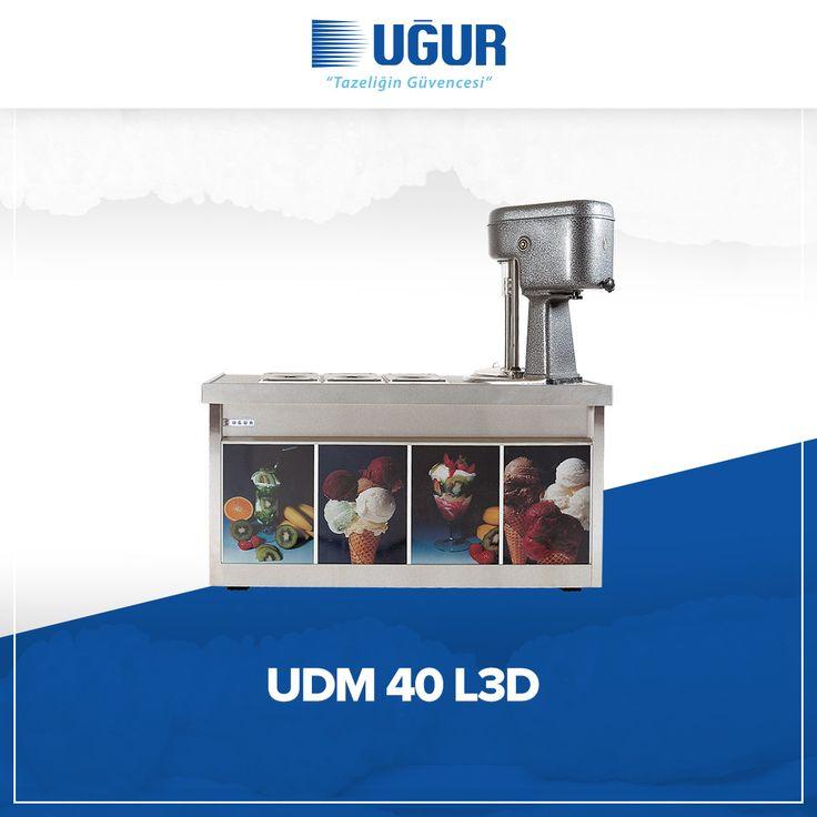 UDM 40 L3D birçok özelliğe sahip. Bunlar; 380 V / 5 Hz salamuralı soğutma sistemleri, sağlığa uygun krom çevirme kazanı ve paslanmaz krom nikel saçtan üretilen üst banko, iç hazneler, hazne kapakları. #uğur #uğursoğutma