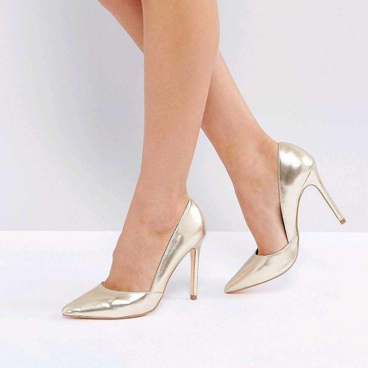 London Rebel Pointed Metallic Court Shoe http://www.musteredlady.com/store/asos-shoes/london-rebel-pointed-metallic-court-shoe-9331000882037907/ #OnSale #Musteredlady #Musteredlady
