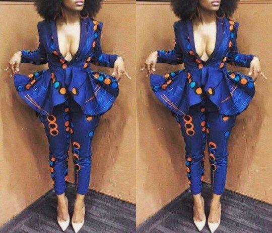 NuVu vest met peplos en broek Afrikaanse jumpsuit door HouseOfIzzi