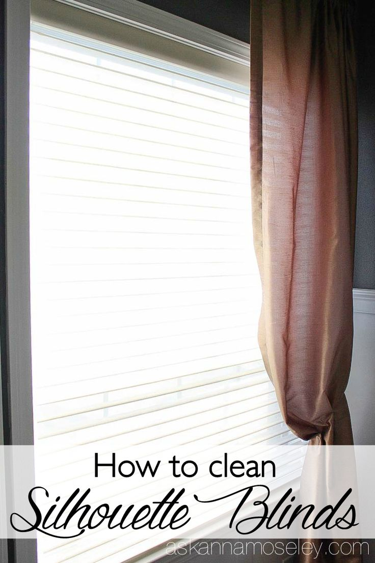 Today I'm sharing a simple tutorial for how to clean Silhouette blinds. This easy method will have them looking new all over again. All you need is a mild cleanser and a bathtub.