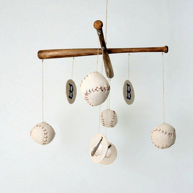 For a vintage baseball nursery