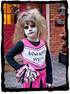 Paige giving Zombie Cheerleader attitude. Well done honey!