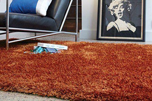 Teppich Wohnzimmer Carpet hochflor Design DIVA SHAGGY RUG 100% Polyester 200x300 cm Rechteckig Orange   Teppiche günstig online kaufen https://www.amazon.de/dp/B017KNE870