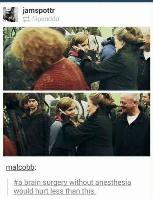 harry potter, the last day of filming, looked at it for two seconds and burst into tears...still crying