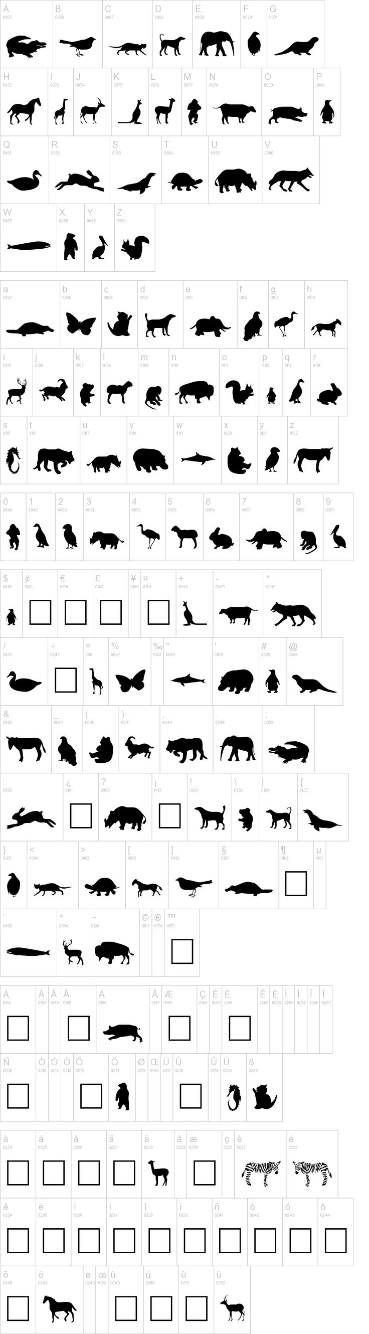 """dafont.com ... huge collection free fonts... and dingbats! (silhouettes) .   cool thing too... if you don't want to download and load font.. you can use the """"custom preview"""" and then save it as a jpeg!!!!!"""