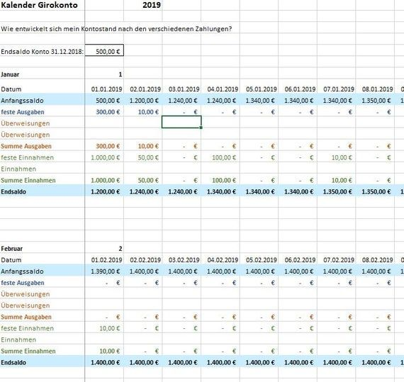 Excel 2019 Budget Plan Financial Plan Budget Book As Excel File 6 Table Sheets Let Yourself Help With Your Budget Small Business Budget Planning Budgeting Budget Book