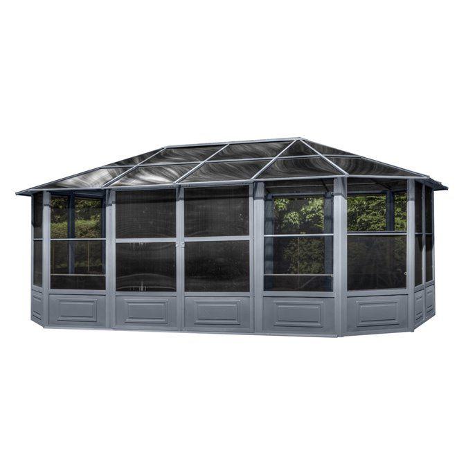 Gazebo Penguin 4 Seasons Outdoor Solarium 12 X18 Gray Gazebo Sunroom Kits Backyard