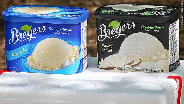 Breyers ice cream aiming for pure and natural ingredients