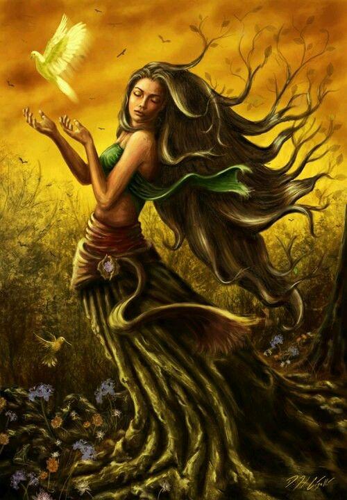 Deméter La diosa de la agricultura , la horticultura , el grano y la cosecha. Deméter es una hija de Cronos y Rea y hermana de Zeus, por los que parió a Perséfone . Ella era representada como una mujer madura , a menudo coronada y la celebración de gavillas de trigo y una antorcha . Sus símbolos son la Cornucopia ( cuerno de la abundancia ) , espigas de trigo , la serpiente alada y el personal de loto. Sus animales sagrados son los cerdos y las serpientes .