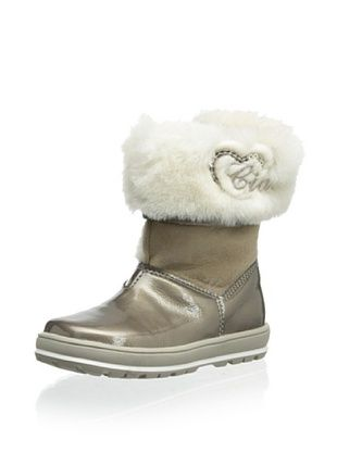 76% OFF Ciao Bimbi Kid's Sheepskin Cuffed Boot (Taupe)