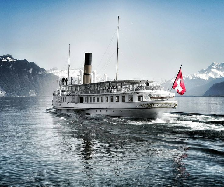"""La Suisse"", CGN's flagship has been cruising on lake Geneva since 1910."