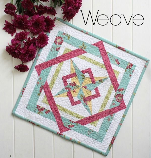 Threadbare Creations- Weave Mini Quilt