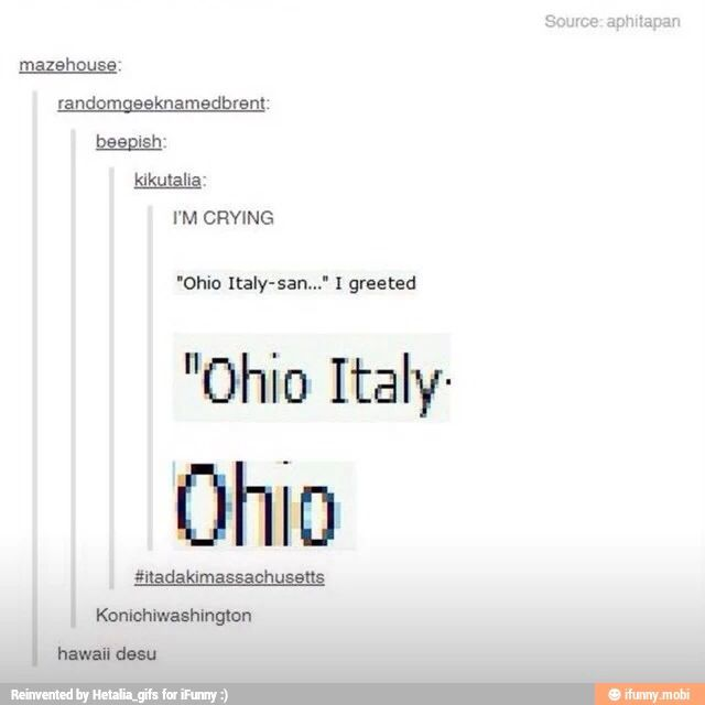 ((IS GREETING ITALY IN JAPANESE WHICH IS ACTUALLY THE NAME OF A US STATE A THING NOW))