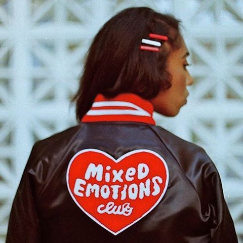 @tuesdaybassen bomber jacket with patches, style inspiration