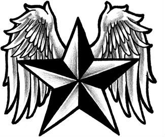 Nautical-star Tattoo Design Fine Stencil. This tattoo can be a source of inspiration to you.