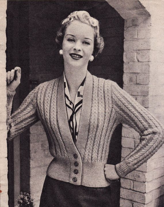 73 Best Vintage Knitting Patterns Cardigans Images On Pinterest