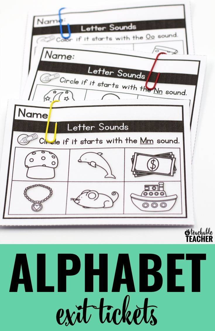 Alphabet exit tickets are a great way to quickly assess alphabet letter sound knowledge in kindergarten!  Love how they are organized and stored so you can grab-and-go!