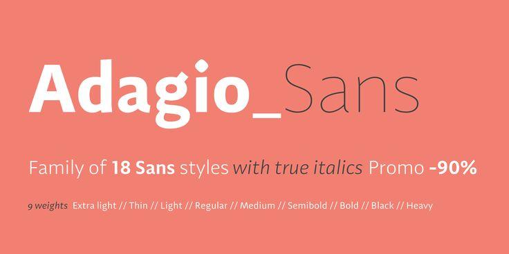 Krój pisma Adagio zaprojektowany przez Mateusza Machalskiego to nowoczesna rodzina krojów pism zawierająca wersję sans, serif, slab oraz zestaw italików.