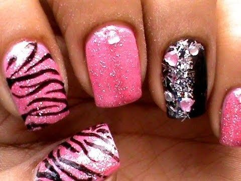 Pink Tiger Nail Art Designs Do It Yourself