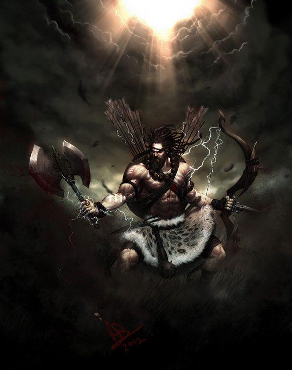 Bhaargava / Parashurama -The axe warrior.